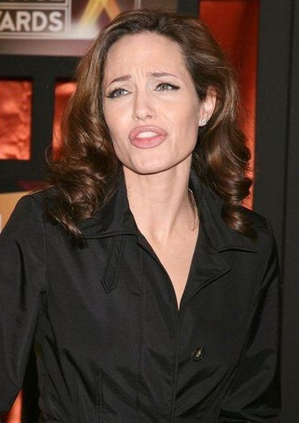 Funny Faces of Angelina Jolie (79 pics)