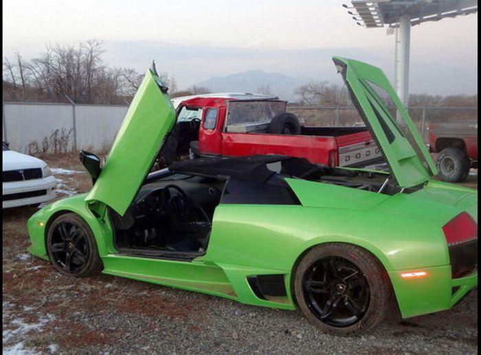 Utah Man Wins and Crashes a Lamborghini (10 pics)