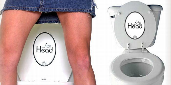 Funny Toilet Lid Stickers (6 pics)