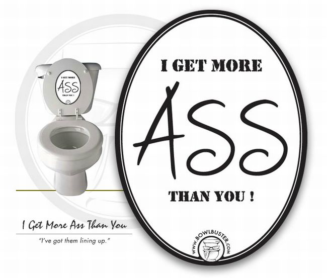Funny Toilet Lid Stickers (6 pics)