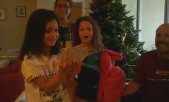 Girls Got Awesome Christmas Present
