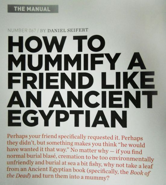 How To Mummify a Friend Like an Ancient Egyptian (5 pics)