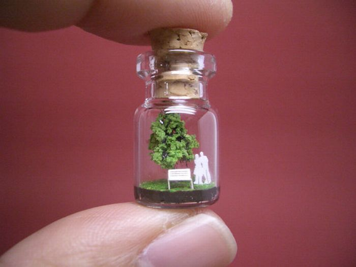 Tiny World In A Bottle (27 pics)