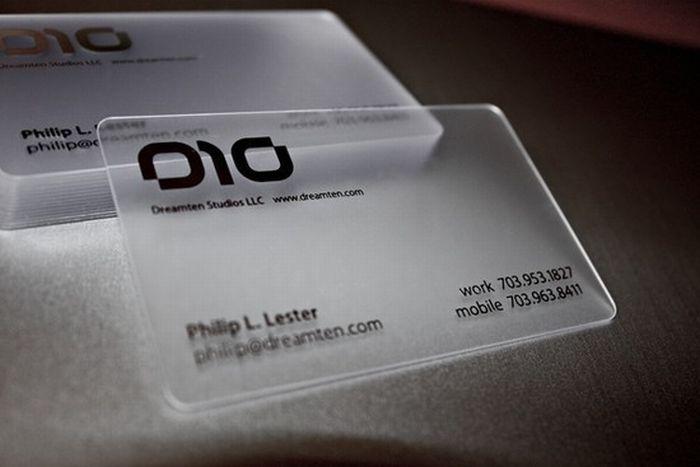 Transparent Business Cards (40 pics)
