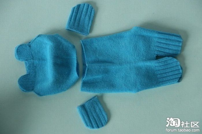 Teddy Bear Made Out of a Sock (10 pics)