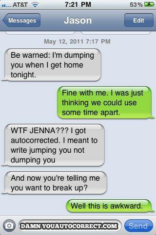 The Funniest AutoCorrects Of 2011 (25 pics)