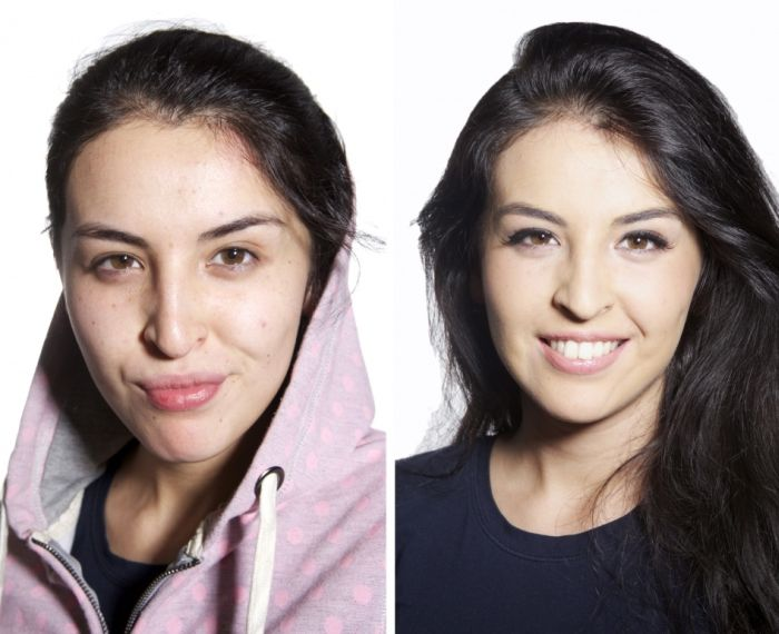 Women With and Without Makeup (10 pics)