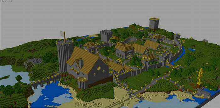 Real Life Minecraft Village (11 pics)