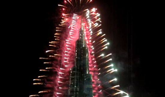 Incredible New Year 2012 Fireworks in Dubai