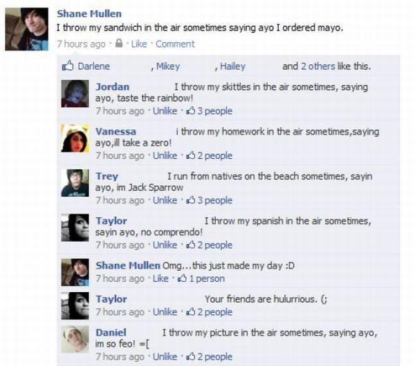 Facebook Updates Done Right (16 pics)