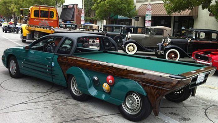 Amazing Pool Table Car (5 pics)