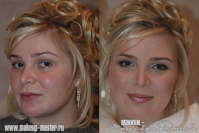 Russian Girls With and Without Makeup (42 pics)
