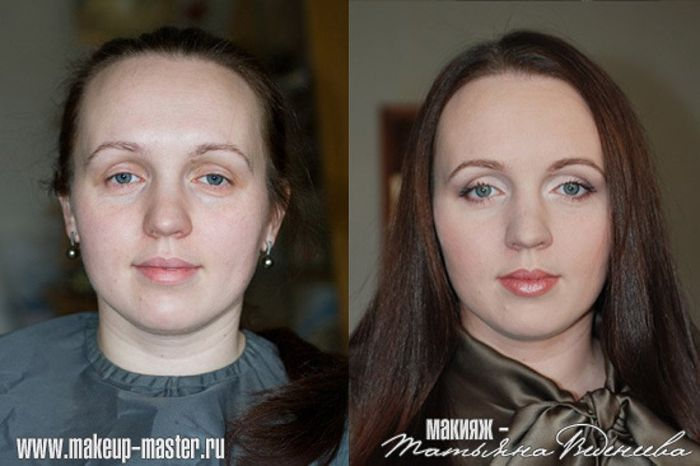 Russian Girls With And Without Makeup 42 Pics