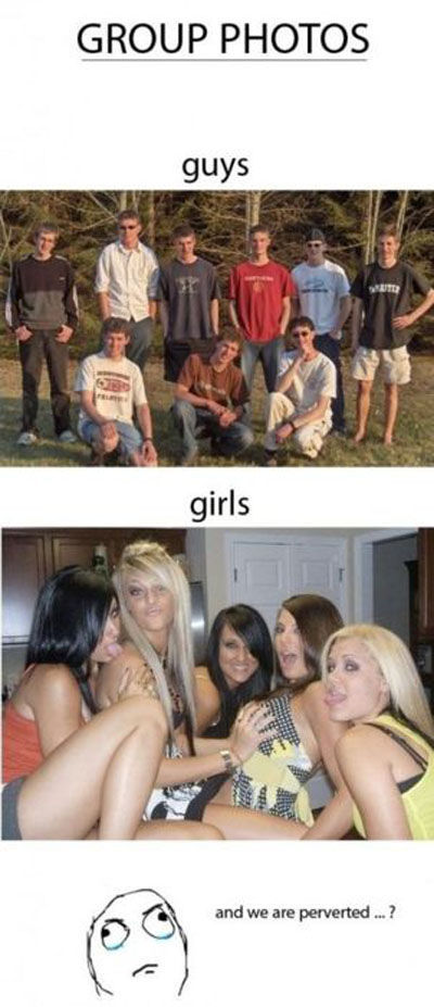 Guys vs. Girls (16 pics)