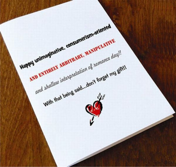 Anti-Valentine's Day Cards (22 pics)