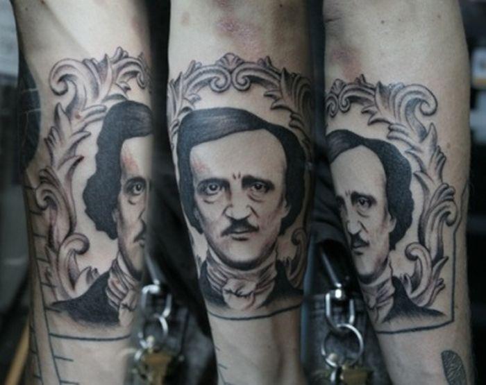 Edgar Allen Poe Tattoos (23 pics)