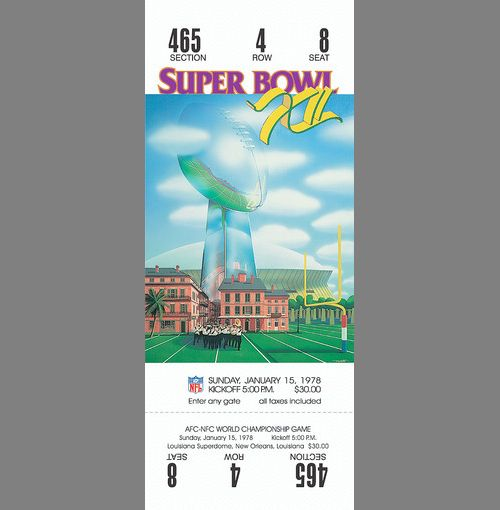 Every Super Bowl Ticket Ever (46 pics)
