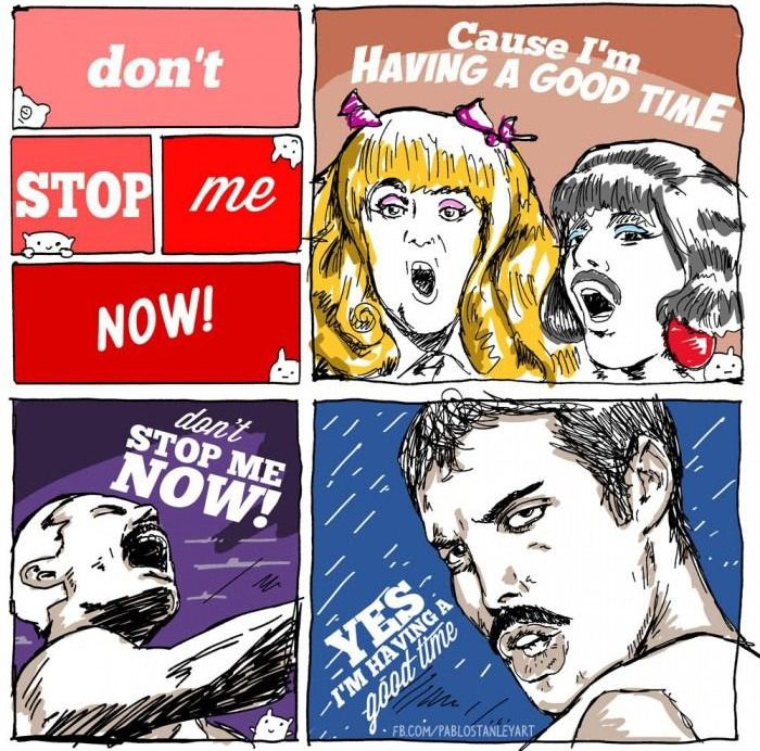 Queen - Don't Stop Me Now (11 pics)