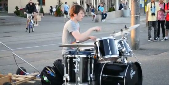 Awesome Street Drummer From Norway