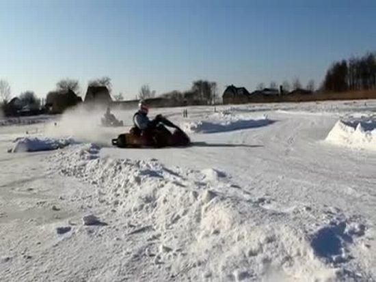 Awesome Ice Karting