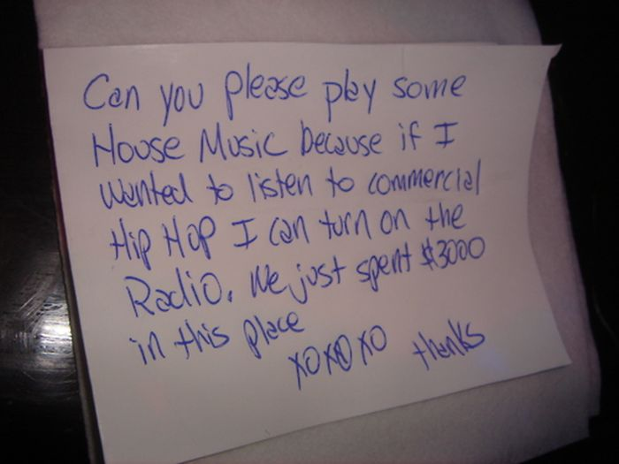 Notes & Signs Found Around the DJ Booth. Part 2 (37 pics)