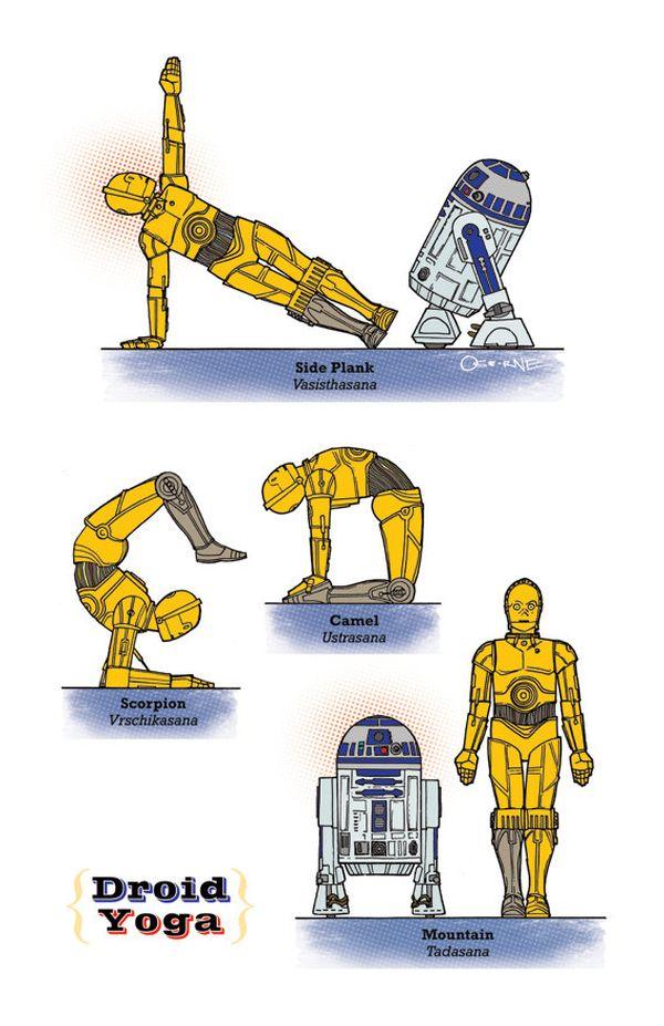 Star Wars Yoga Poses (6 pics)