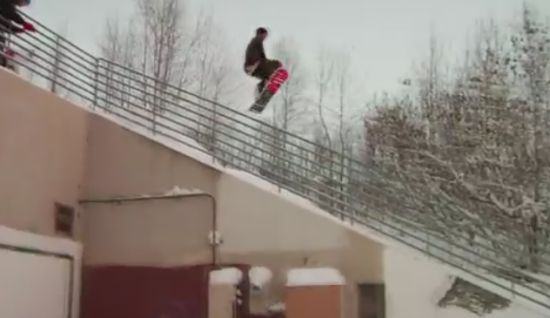 Incredible Urban Snowboarding Tricks