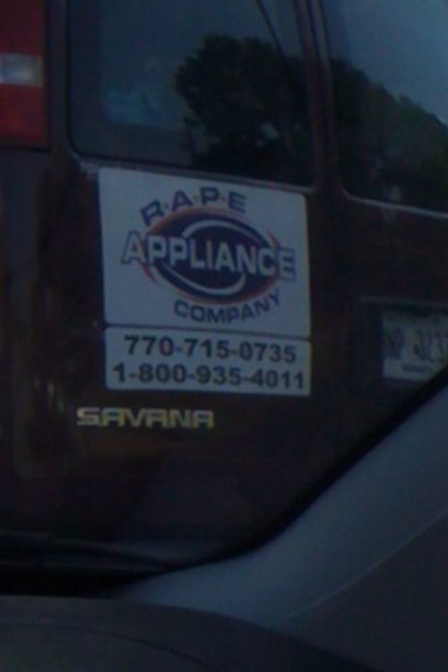 Unintentionally Sexual Business Names (19 pics)