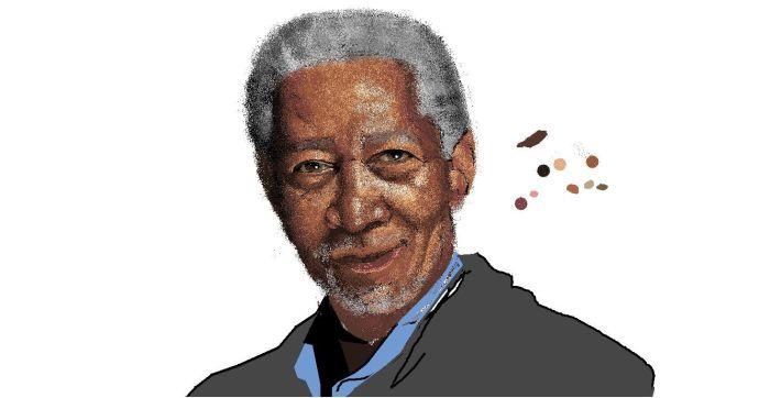 Morgan Freeman in MS Paint (33 pics)