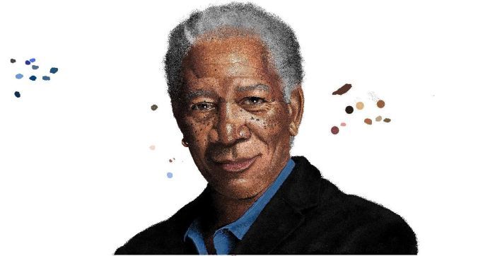 Morgan Freeman in MS Paint (33 pics)