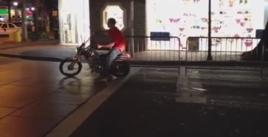 Hilarious Run Away Motorbike