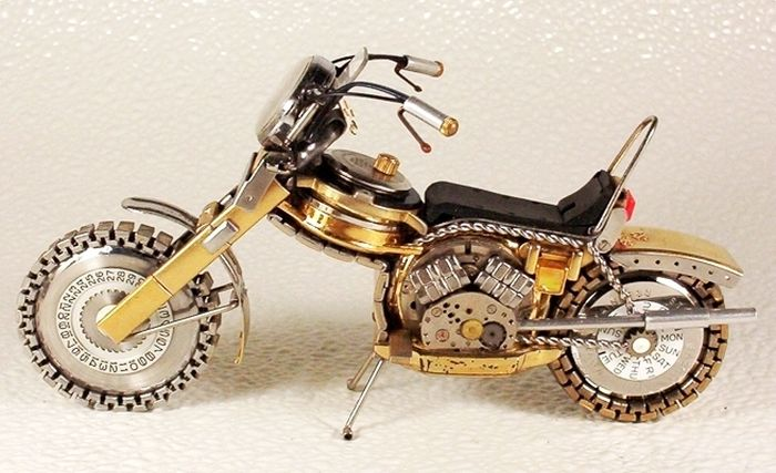 Awesome Bikes Made Out Of Old Watches (37 pics)