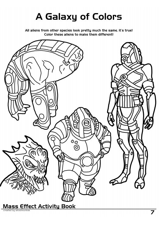 mass effect 3 coloring pages - photo#30