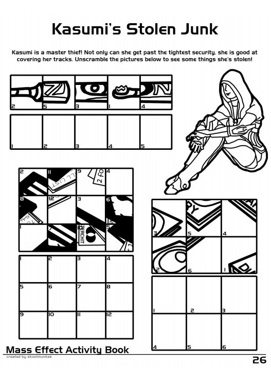 mass effect coloring and activity book  30 pics