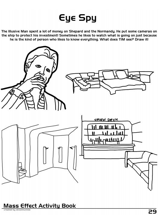 Mass Effect Coloring and Activity Book (30 pics)