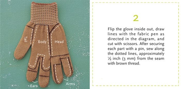 How to Turn a Glove into a Chipmunk (10 pics)