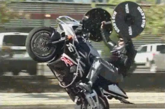 Unbelievable Motorcycle Wheelie GYM