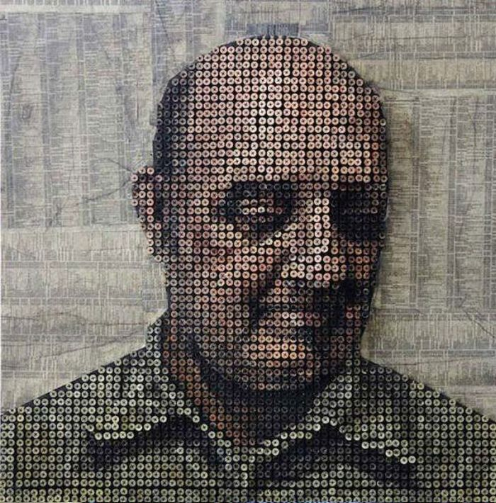 3D Portraits Made out of Screws by Andrew Myers (13 pics)