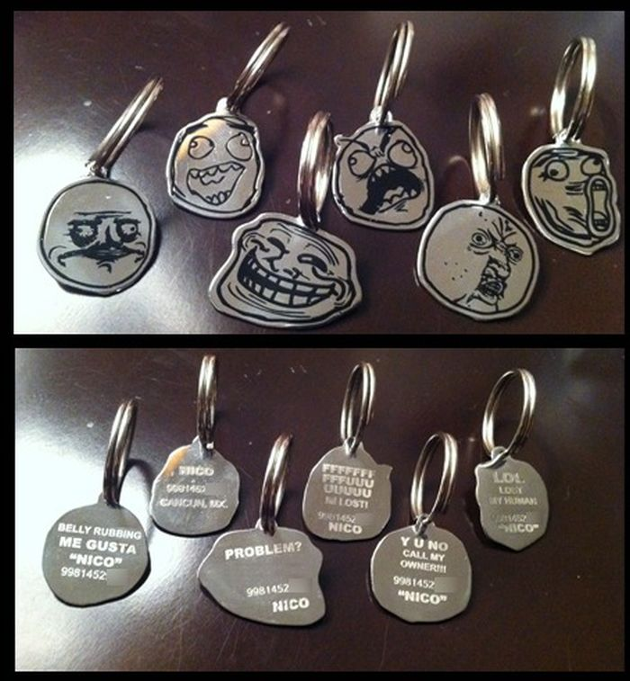 Rage Faces Dog Tags (5 pics)