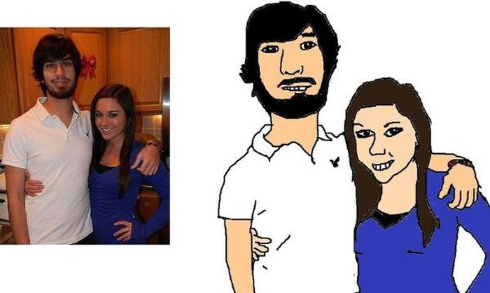 Guy's Making Paintings of His Facebook Friends (35 pics)