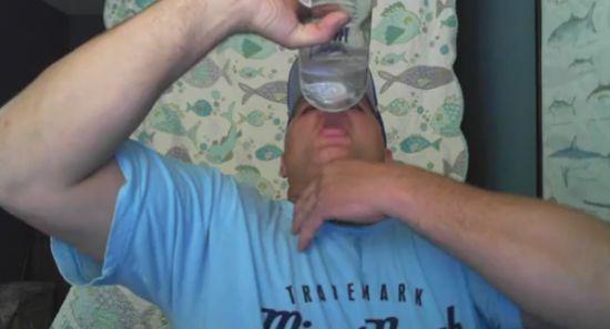 Crazy Guy Drinks A Bottle of Vodka in 15 Seconds