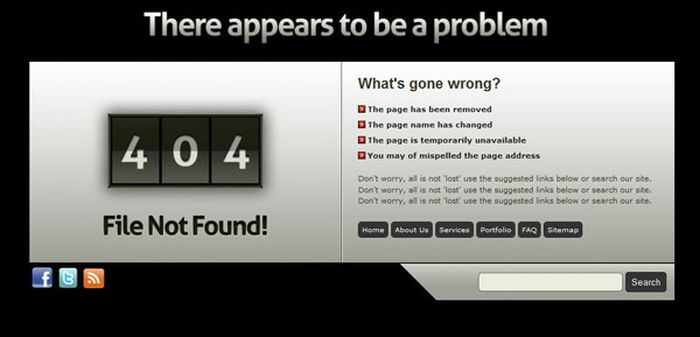 The Best of 404 Error Pages. Part 4 (23 pics)