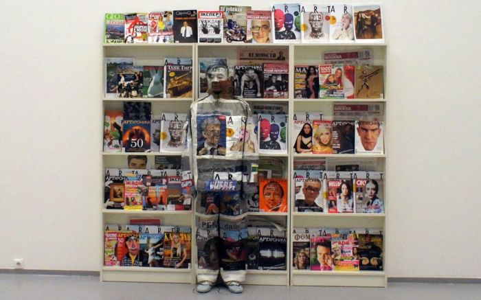 The Invisible Man Liu Bolin. Hiding in New York (18 pics)