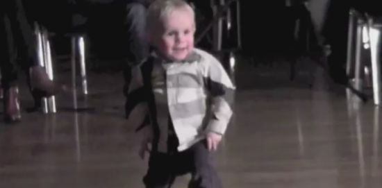 Awesome Two-Year-Old Boy Dances Rock'n Roll