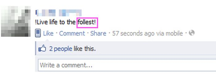 The Most Disastrous Facebook Spelling Mistakes (40 pics)