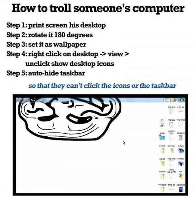 How to Troll Someone's Computer? (2 pics)