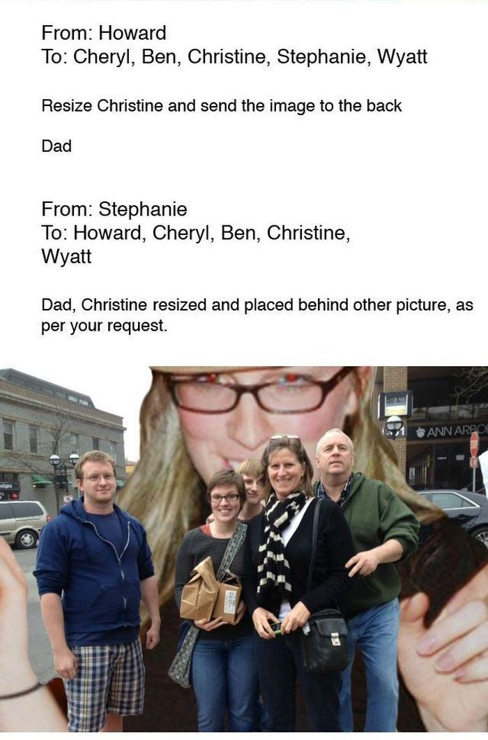 Girl Trolling Her Dad (8 pics)