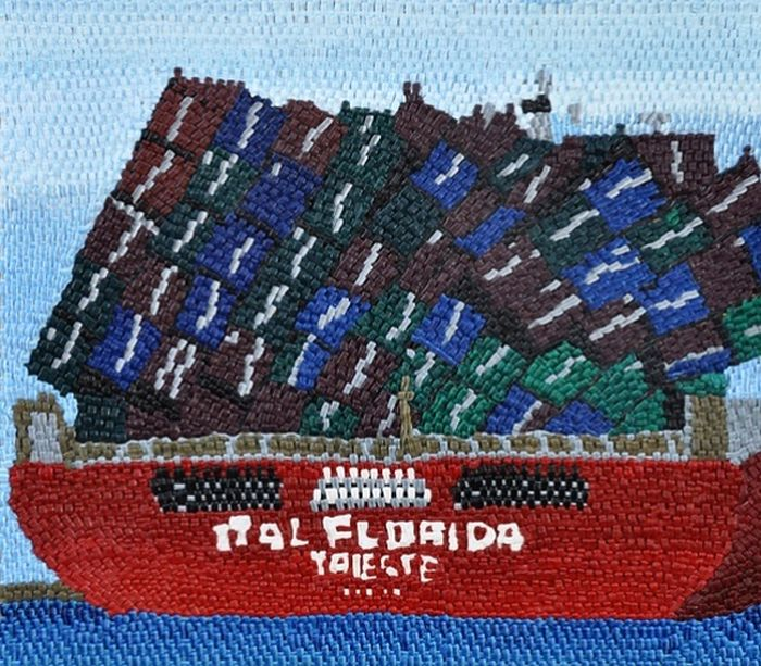 Painted Needlepoint Ship Wreck Art (13 pics)