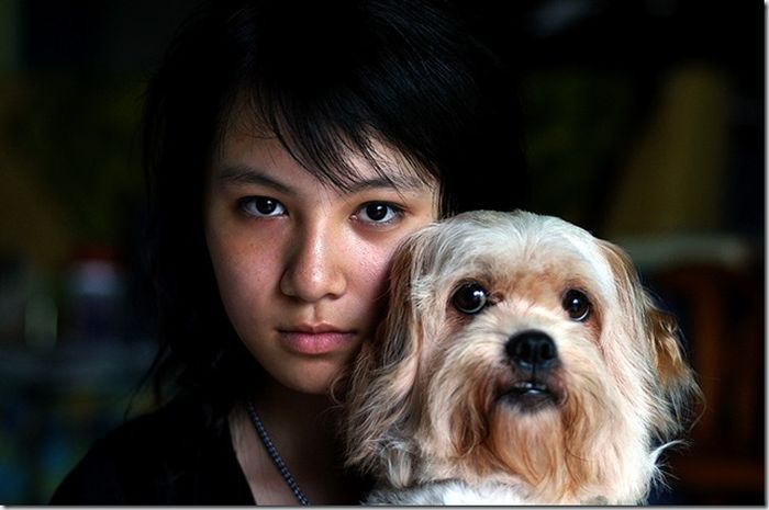 Girl and Dog Ten Years Later (3 pics)