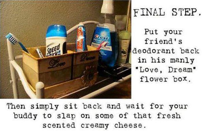 Hilarious Stick Deodorant Prank (6 pics)